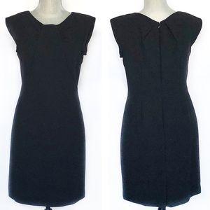 Tahari LBD Pin Tuck Sheath Dress SZ 6P